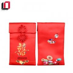 Chinese traditional silk fabric red envelope